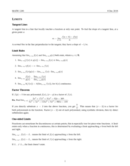 MATH 1200 Study Guide - Final Guide: Asymptote, Product Rule, Constant Function