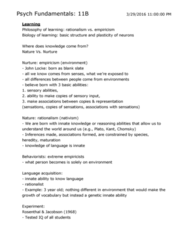 PSY BEH 11B Study Guide - Final Guide: Memory Consolidation, Confirmation Bias, John Bowlby