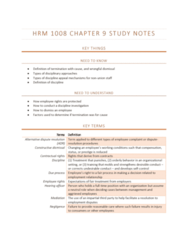 HRM1008 Chapter Notes - Chapter 9: Absenteeism, Wrongful Dismissal, Constructive Dismissal