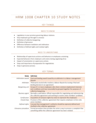 HRM1008 Chapter Notes - Chapter 10: Bargaining Unit, Union Representative, Closed Shop