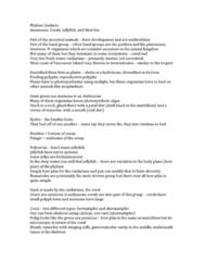 Biology 3229F/G Lecture Notes - Lecture 2: Sternum, Hydrozoa, Obelia