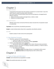 MGMT 1050 Chapter Notes - Chapter 1-5: Pie Chart, Level Of Measurement, Bar Chart