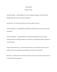 ANTHRO 200 Chapter Notes - Chapter 9: Gender Role, Vocab (Song), Asexuality