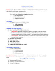CRIM 220 Study Guide - Final Guide: Microanalysis, Group Dynamics, Time Series