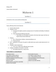 BIOL 1070 Study Guide - Midterm Guide: Glochidium, Unionidae, Bivalve Shell