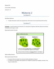 BIOL 1070 Study Guide - Midterm Guide: Ecosystem Diversity, Abiotic Component, Herbaceous Plant