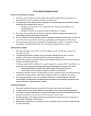 PSYC 1000 Chapter Notes - Chapter 16: Community Psychology, Cognitive Behavioral Therapy, Reuptake