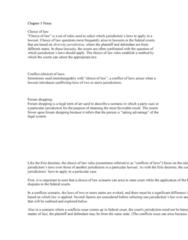 BUSL 2550 Lecture Notes - Lecture 3: Lex Fori, Federal Common Law, Lex Loci Contractus