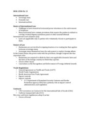 BUSL 2550 Lecture Notes - Lecture 13: Alien Tort Statute, United Nations Convention On Contracts For The International Sale Of Goods, Uniform Commercial Code
