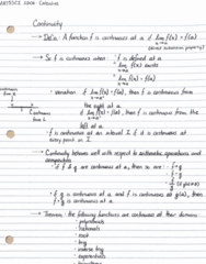 ARTSSCI 1D06 Lecture Notes - Lecture 8: Classification Of Discontinuities
