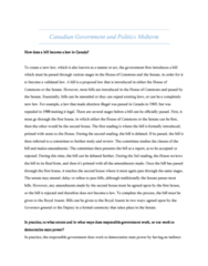 POLB50Y3 Study Guide - Midterm Guide: Tyrant, Bicameralism, Responsible Government