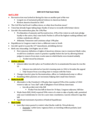 AMH-4172 Study Guide - Final Guide: Colfax Massacre, Whiskey Ring, Barbecue