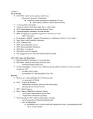HIST 8B Lecture Notes - Lecture 12: Republic Of Texas, Reform War, Debt Moratorium