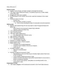 HIST 8B Lecture Notes - Lecture 6: Toussaint Louverture, Spanish Army, Charles Iv Of Spain