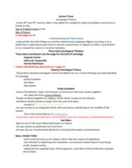 SOC 100 Lecture Notes - Lecture 3: Harriet Martineau, Émile Durkheim, Auguste Comte