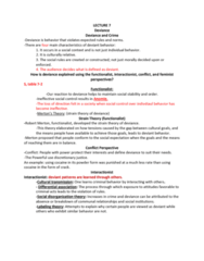 SOC 100 Lecture Notes - Lecture 7: Anomie, Cultural Learning, Labeling Theory