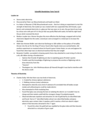 HPS211H1 Study Guide - Midterm Guide: Leyden Jar, Pieter Van Musschenbroek, Jean-Antoine Nollet