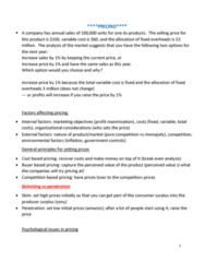 MGMA01H3 Lecture Notes - Lecture 5: Profit Maximization, Variable Cost, Economic Surplus