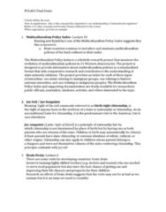 POLA01H3 Study Guide - Final Guide: Jus Sanguinis, Thomas Humphrey Marshall, Jus Soli