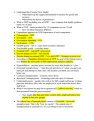 ECON 110 Study Guide - Quiz Guide: Gdp Deflator, Frictional Unemployment, Real Wages