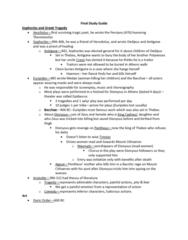 CLCIV 101 Lecture 22: Final Study Guide