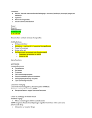 MCD BIO 165A Lecture Notes - Lecture 14: Lysosomal Storage Disease, Cation-Dependent Mannose-6-Phosphate Receptor, Mannose