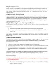 ORGS 2010 Chapter Notes - Chapter 1-6: Organizational Culture, John Gutfreund, Money Supply