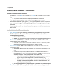 PSYC 100 Chapter Notes - Chapter 1: American Psychological Association, John B. Watson, Jean Piaget