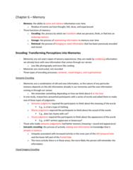 PSYC 100 Chapter Notes - Chapter 8: False Memory, Amygdala, Egocentric Bias