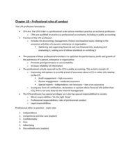 ACCO 450 Chapter Notes - Chapter 18: Whistleblower, Engagement Letter, Corporate Finance