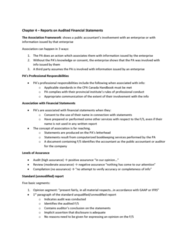 ACCO 450 Chapter Notes - Chapter 4: Financial Statement, Internal Control, No Reasons