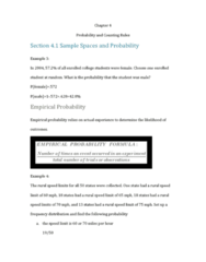 STA 2023 Lecture Notes - Lecture 17: Empirical Probability, Frequency Distribution