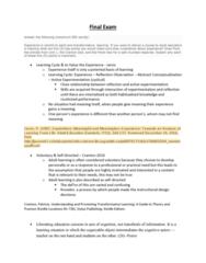 EDRD 3120 Study Guide - Final Guide: Instructional Design