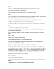 BIOL444 Study Guide - Final Guide: Innate Immune System, Immunoglobulin M, Opsonin