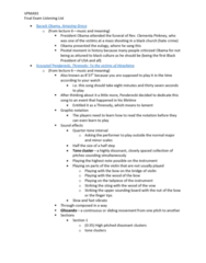 VPMA93H3 Study Guide - Final Guide: Pan Flute, Character Piece, Legato