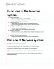 ES 207 Chapter Notes - Chapter 8: White Matter, Defecation, Lumbar Vertebrae