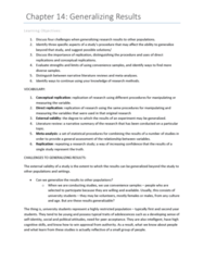 PSYC 217 Chapter Notes - Chapter 14: External Validity, Literature Review, Longitudinal Study