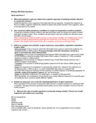 BIOL308 Study Guide - Final Guide: Constitutive Heterochromatin, Crystallin, Recbcd
