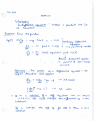 MATH201 Lecture Notes - Lecture 1: Heat Equation, Amen