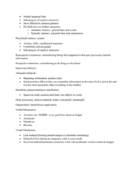 PSYC1003 Lecture Notes - Lecture 20: Semantic Memory, Episodic Memory, Temporal Lobe