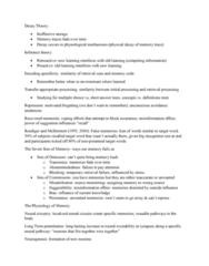 PSYC1003 Lecture Notes - Lecture 21: Memory Consolidation, Temporal Lobe, Prefrontal Cortex