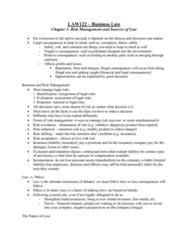 LAW 122 Lecture Notes - Lecture 1: Ultra Vires, Liability Insurance