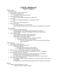 LAW 122 Lecture Notes - Lecture 6: Damages, Statutory Authority, Product Liability
