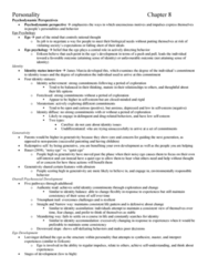 PSYC 3490 Chapter Notes - Chapter 8: Coronary Artery Disease, Extraversion And Introversion, Cardiovascular Disease