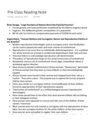 Women's Studies 1020E Chapter Notes - Chapter Pg. 143-156: Angela Davis, Eugenics, Commodification