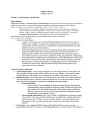 MICROBIO 160 Study Guide - Midterm Guide: Organizational Behavior, Intersectionality, Ingroups And Outgroups