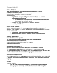 LING316 Lecture Notes - Lecture 10: Speech Community, Pipefitter, Diaphoneme