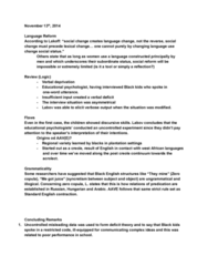 LING316 Lecture Notes - Lecture 18: Yankee Group, Diphthong, Oneword