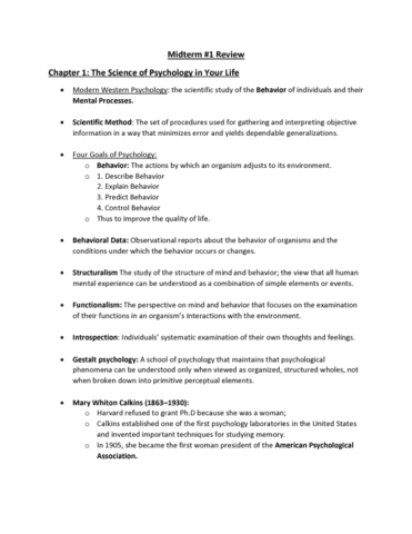psychology 101 midterm answers Psyc 101 3 credit course winter, 2017 introduction to psychology ii instructor: r james mcclelland, phd office hours: monday 10:30 – 12: and in class participation, including the use of iclickers is expected missed classes and non-participation will result in a reduction of the mark midterm exam.
