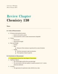 CHEM 130 Chapter Notes - Chapter R: Trailing Zero, Reproducibility, Significant Figures